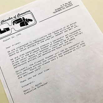 Original letter sent to community members in 1992 by Nancy Smith