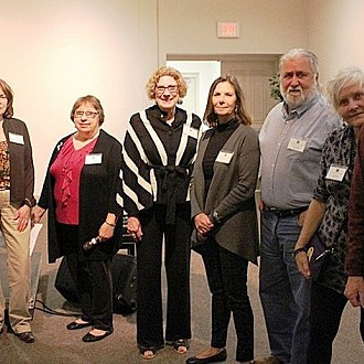 Visual Arts Team, L to R: Sharon, Deborah, Dena, Gina, Jody, Larry, Pamela, Richard
