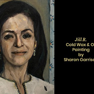 "Plymouth Arts Center: First Place: ""Jill R."" oil by Sharon Garrison"