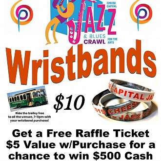 Get Your Jazz Crawl Wristband Today and Help to Support the Arts!