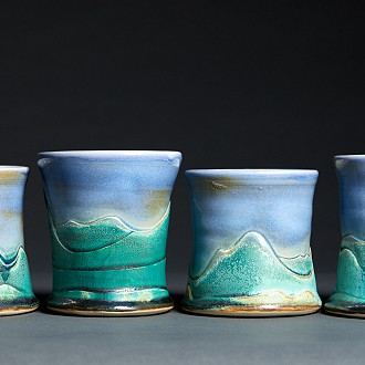 Charna Schwartz-Potter, Pottery wheel-thrown, functional and decorative: #1 PAC Greatroom 520 E. Mill St. Plymouth, WI