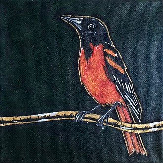 Kris Morse, Contemporary nature & wildlife acrylic paintings: #11 Krissy K Design Studio, W6635 Cty. Rd. F, Cascade