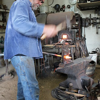 Mark Mondloch, Blacksmith:  The working studio and gallery featuring functional and decorative artwork in clay and forged iron for the home and the garden #14 Silver Creek Pottery & Forge W6725 Hwy 144, Random Lake, WI