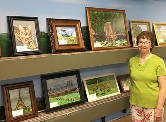Mary Ann Zuengler, Acrylic artist focusing on landscapes and animals: Paintings:  #1 PAC Greatroom 520 E. Mill St. Plymouth, WI