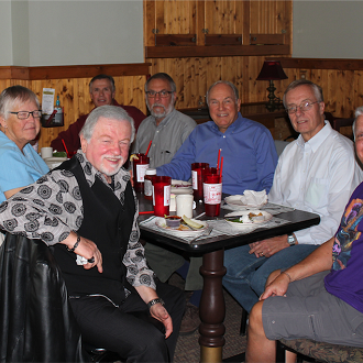 Karl Galstad's Retirement from the Board: L to R: Jim Rosetti, Carol Galstad, Karloy Galstad, Bob Hoopman, Keith Enstrom, Tom Slater, Bill Horsch, Paul Sartori, not pictured, Donna Hahn