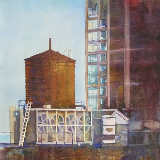 """Water Tower"" by Artist, Kathryn Wedge"